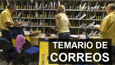 TEMARIO OPOSICIONES CORREOS