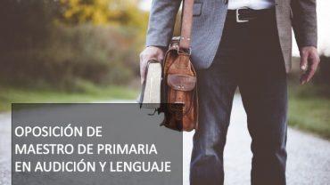 maestro de primaria en audicion y lenguaje
